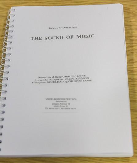 Manuskript til The Sound of Music på Vilhelmsborg